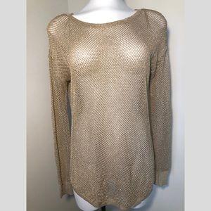 MICHAEL Michael Kors   Golden netted top   Size XS